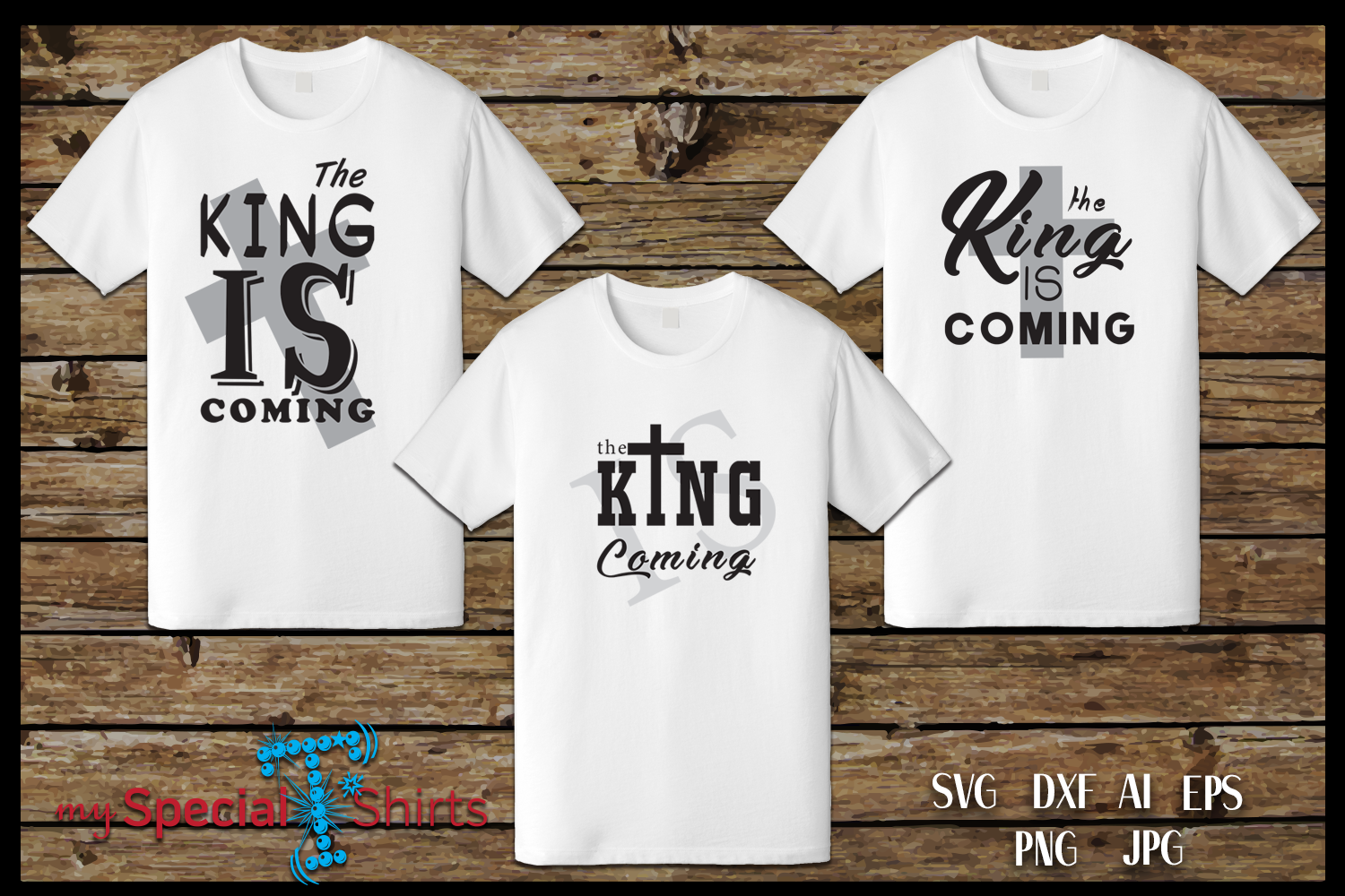 The King is Coming, Easter, Cross SVG, DFX, EPS example image 2