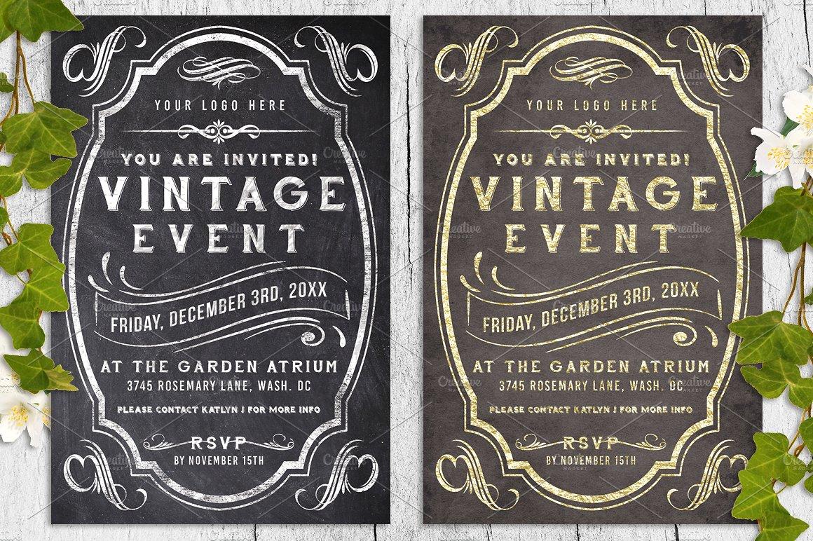 Massive Wedding Invite Bundle Flyer Save Date Bridal Shower  example image 2