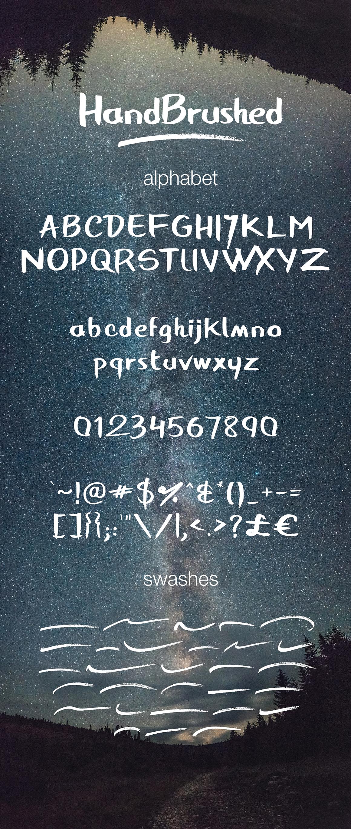 HandBrushed Font example image 2