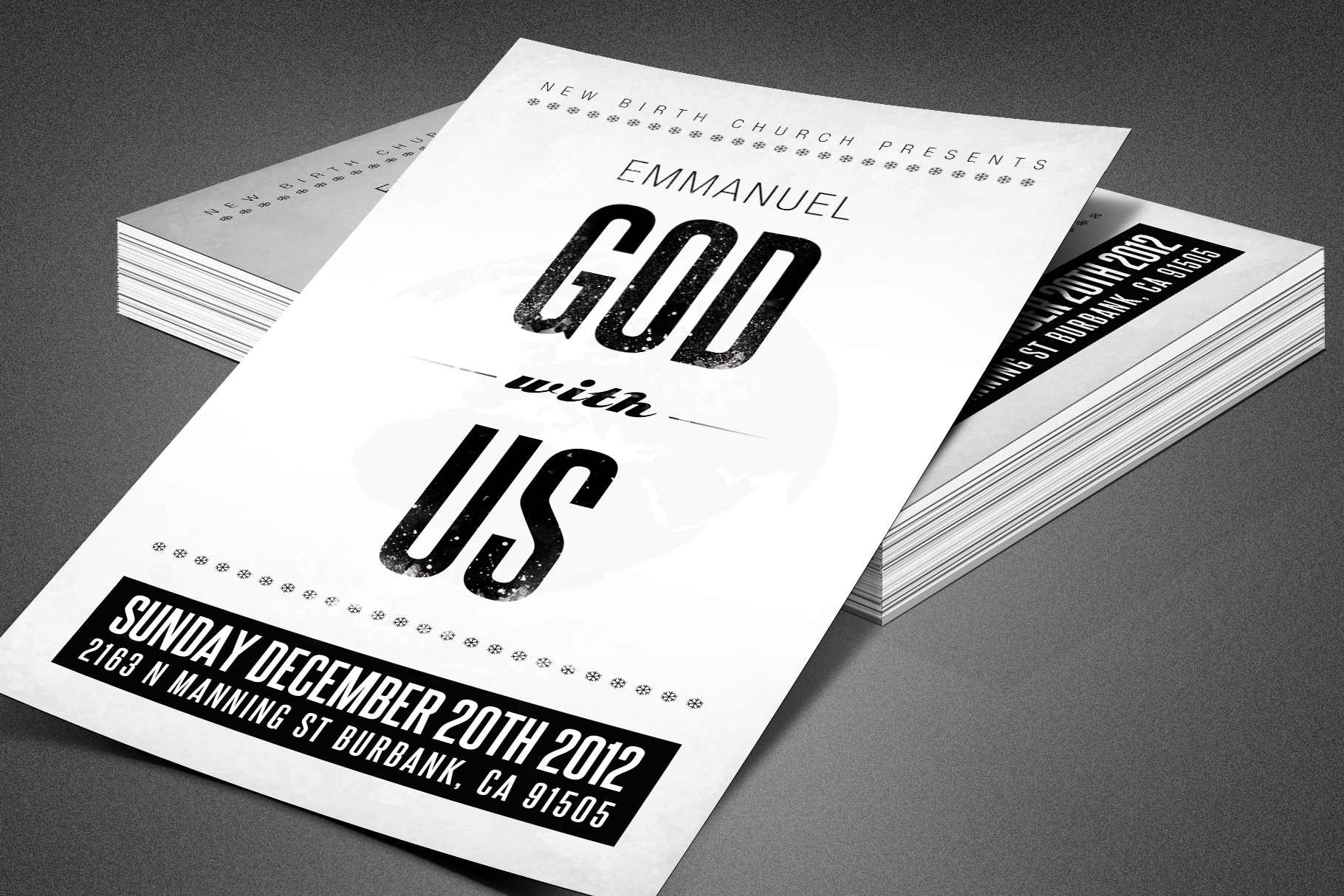 Emmanuel Christmas Church Flyer example image 2
