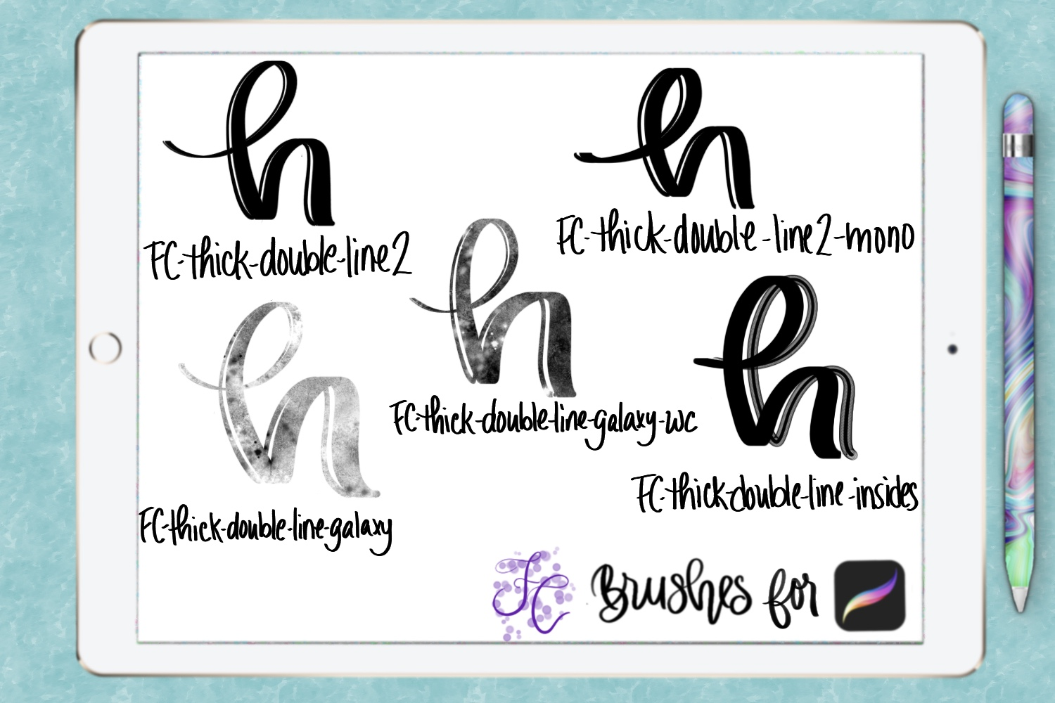 FC-funky lettering set 2 for PROCREATE example image 2