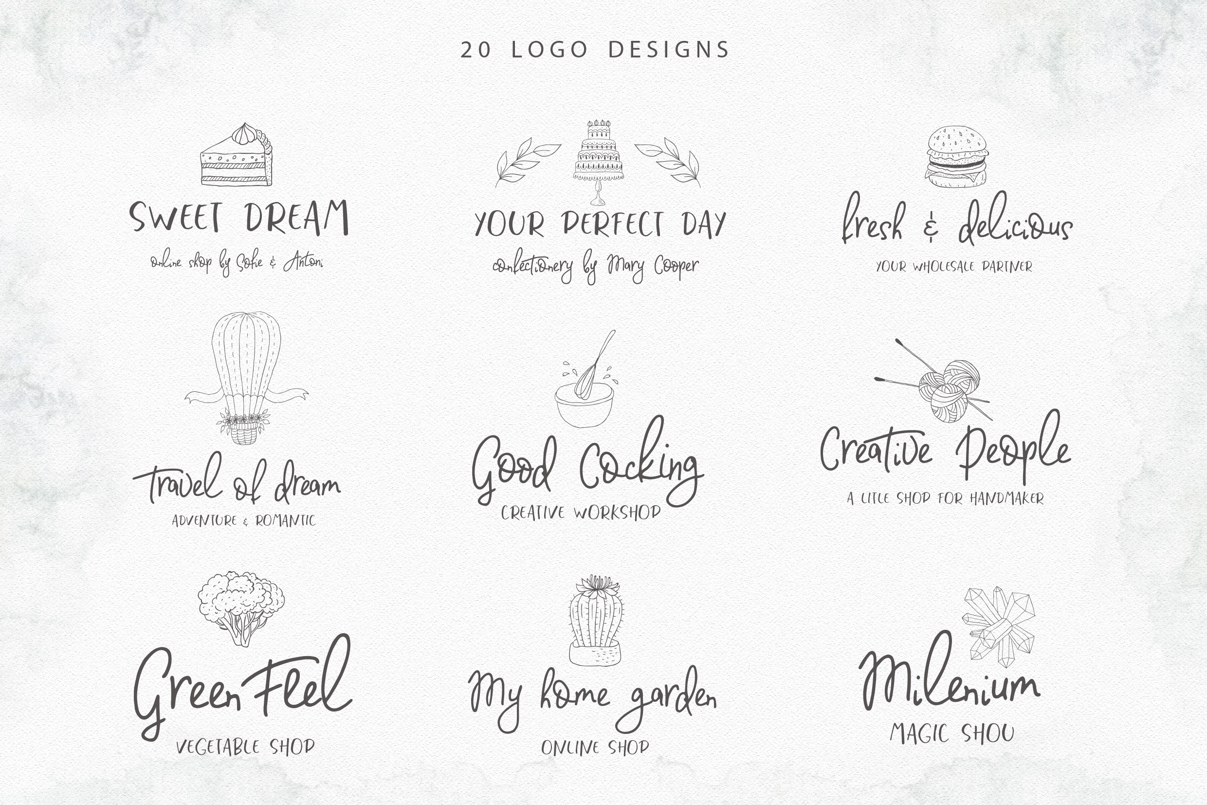 Fashionable Duo Font & Illustrations example image 12
