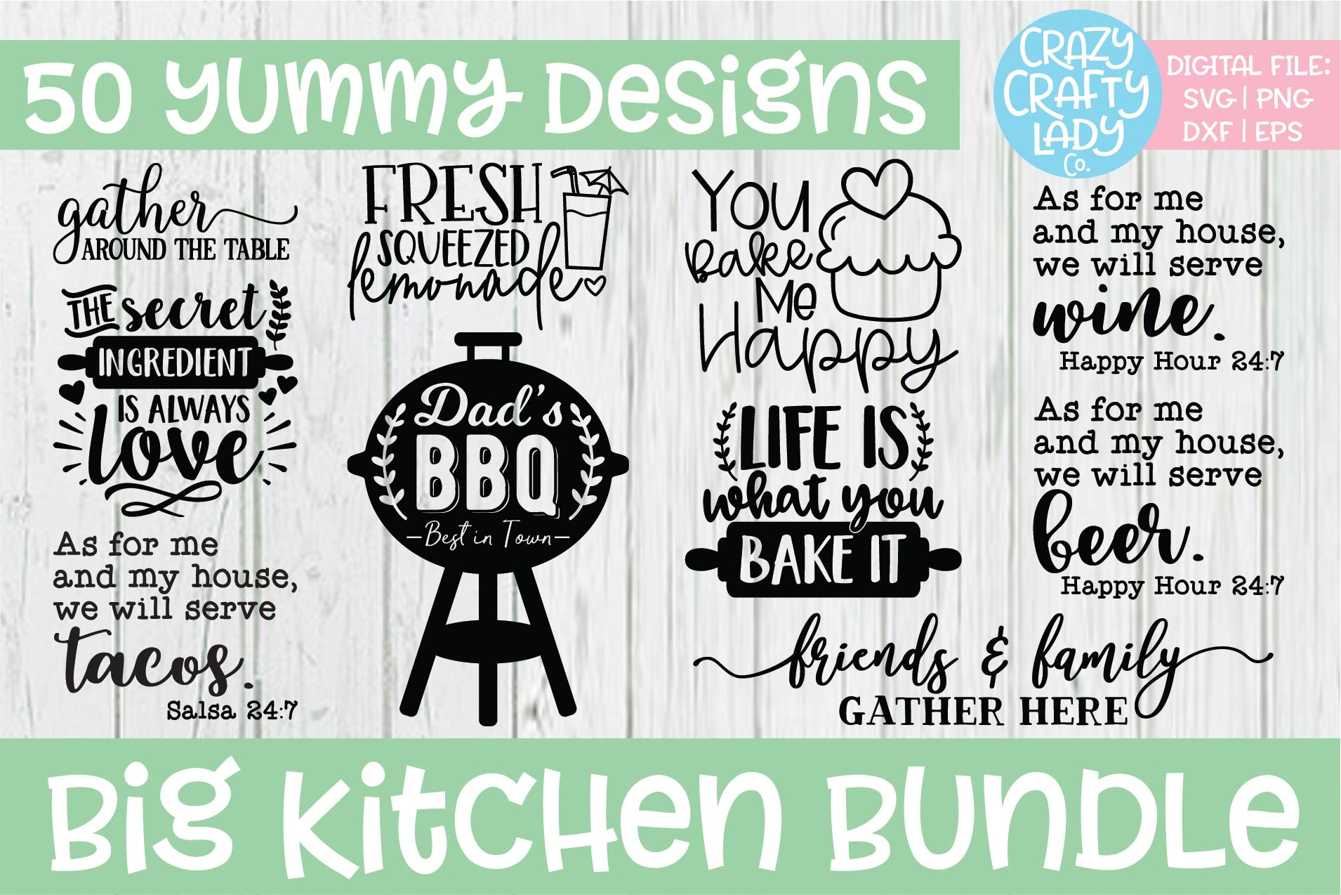 Big Kitchen SVG DXF EPS PNG Cut File Bundle example image 5