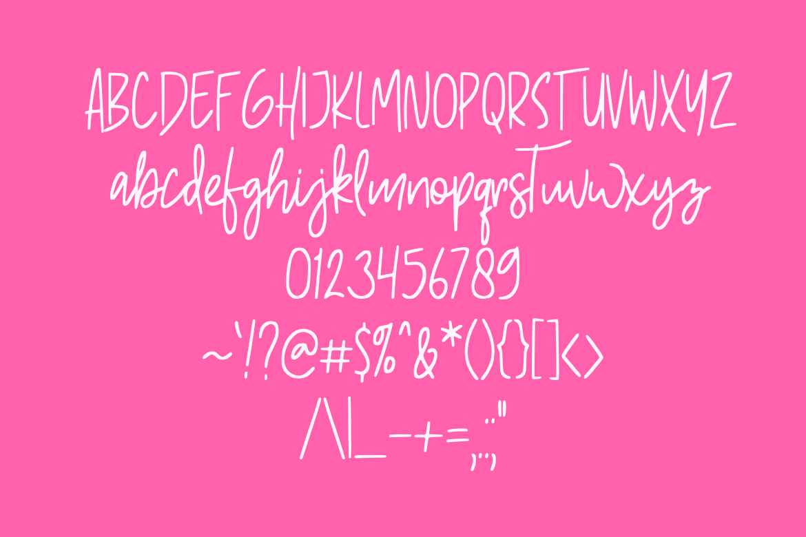 Pinky Sweet Cute Font example image 4