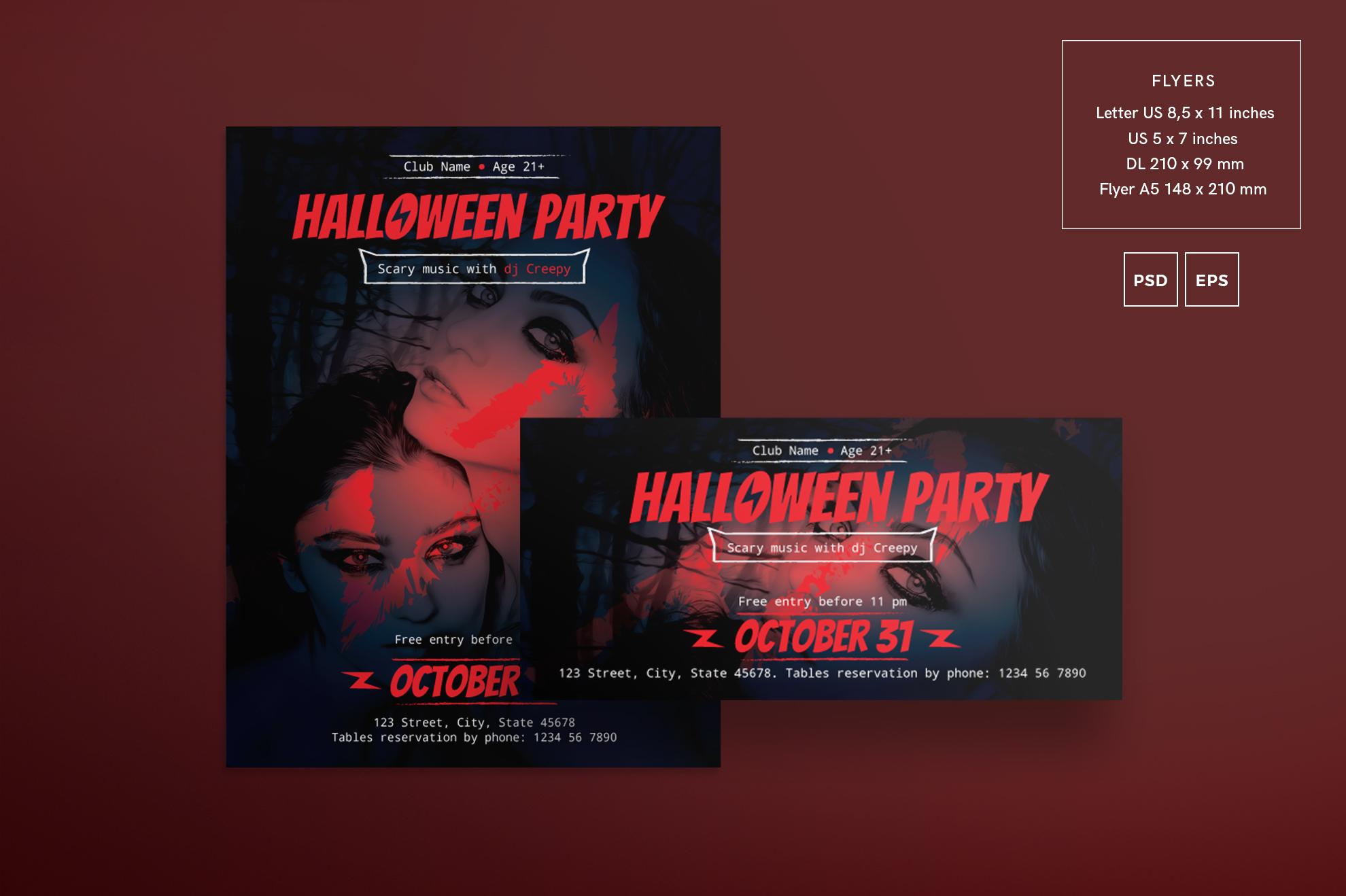 Halloween Party Design Templates Bundle example image 2