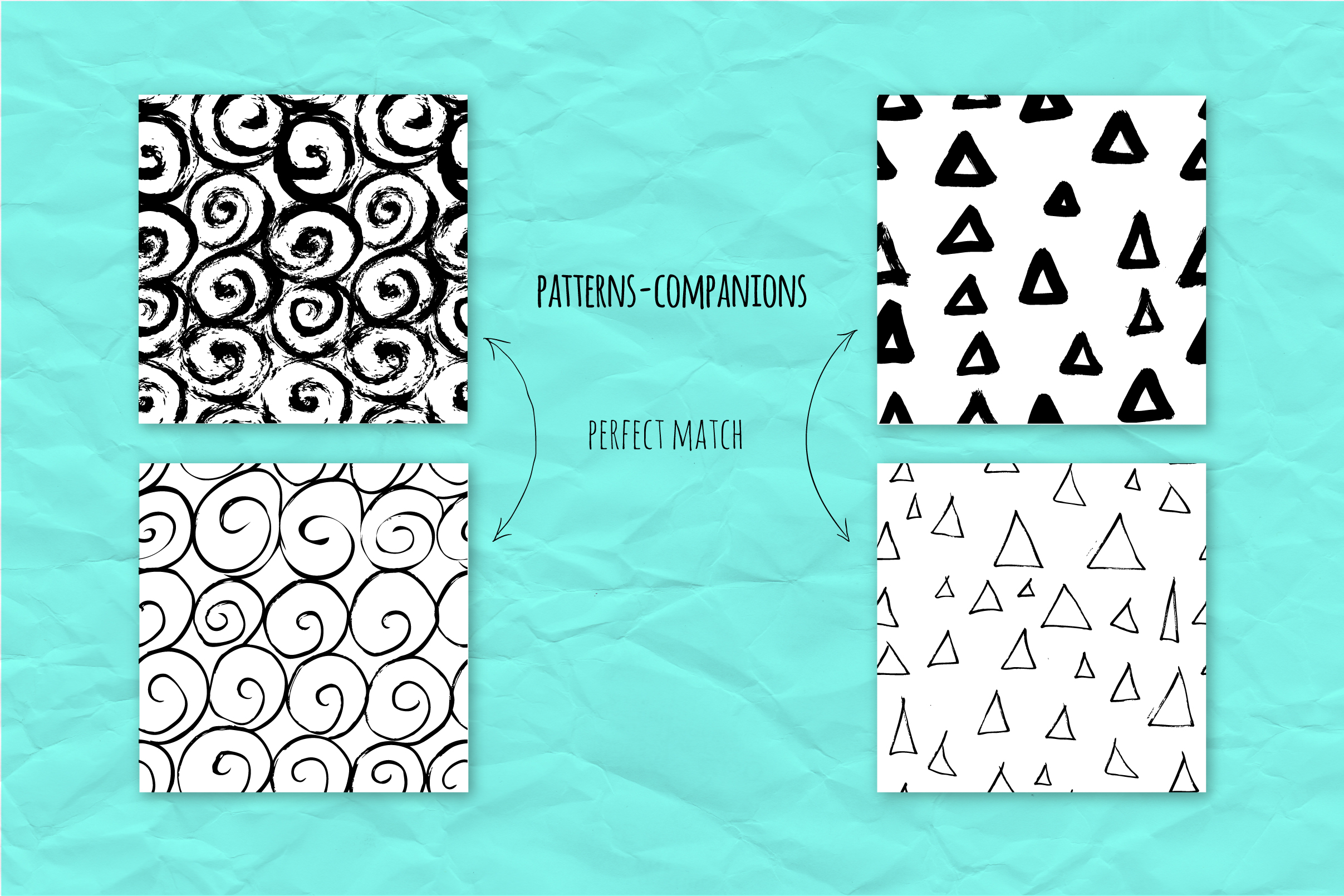 34 ink effect seamless patterns v3 example image 7