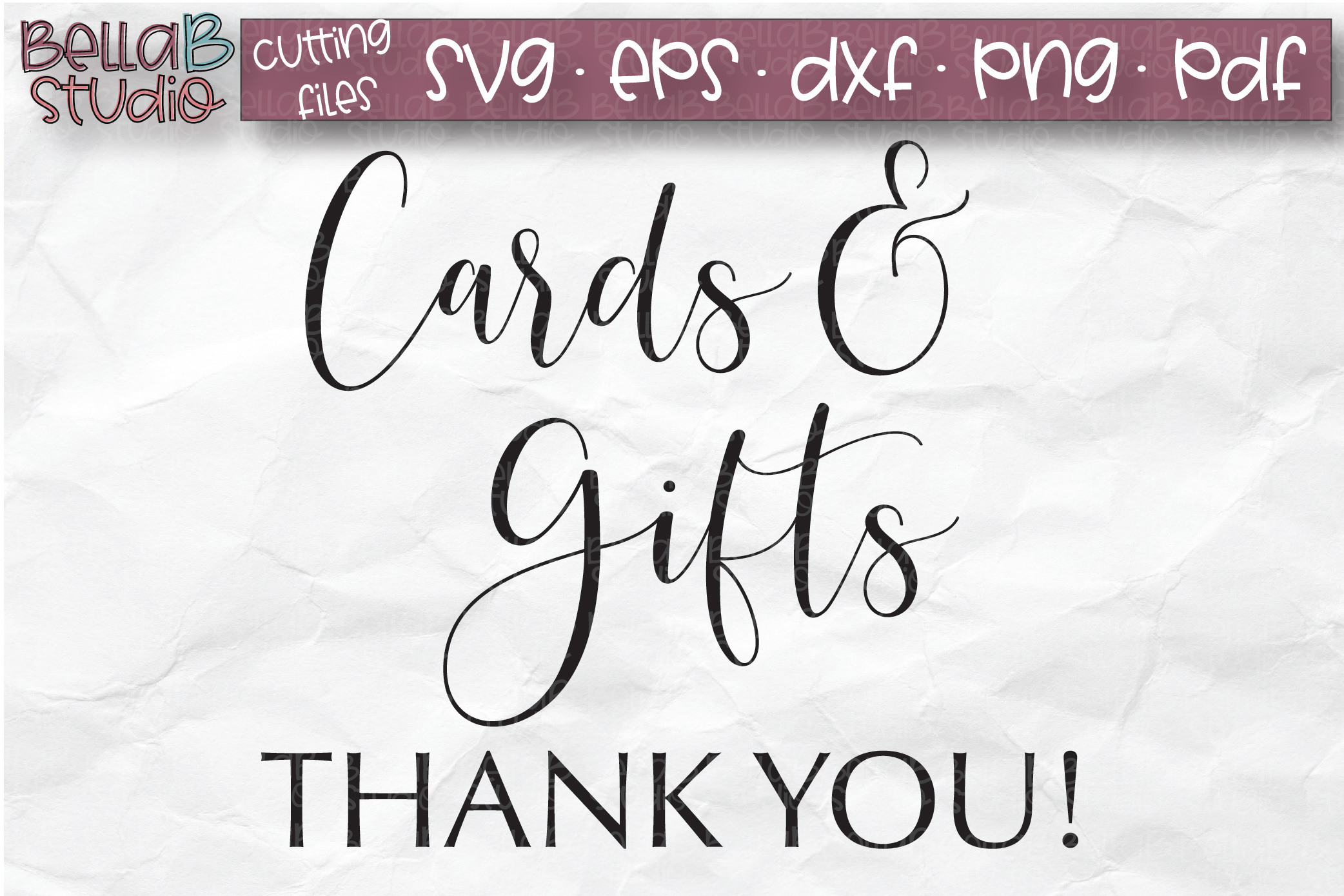 Wedding Sign SVG, Cards and Gifts SVG, Wedding SVG example image 2