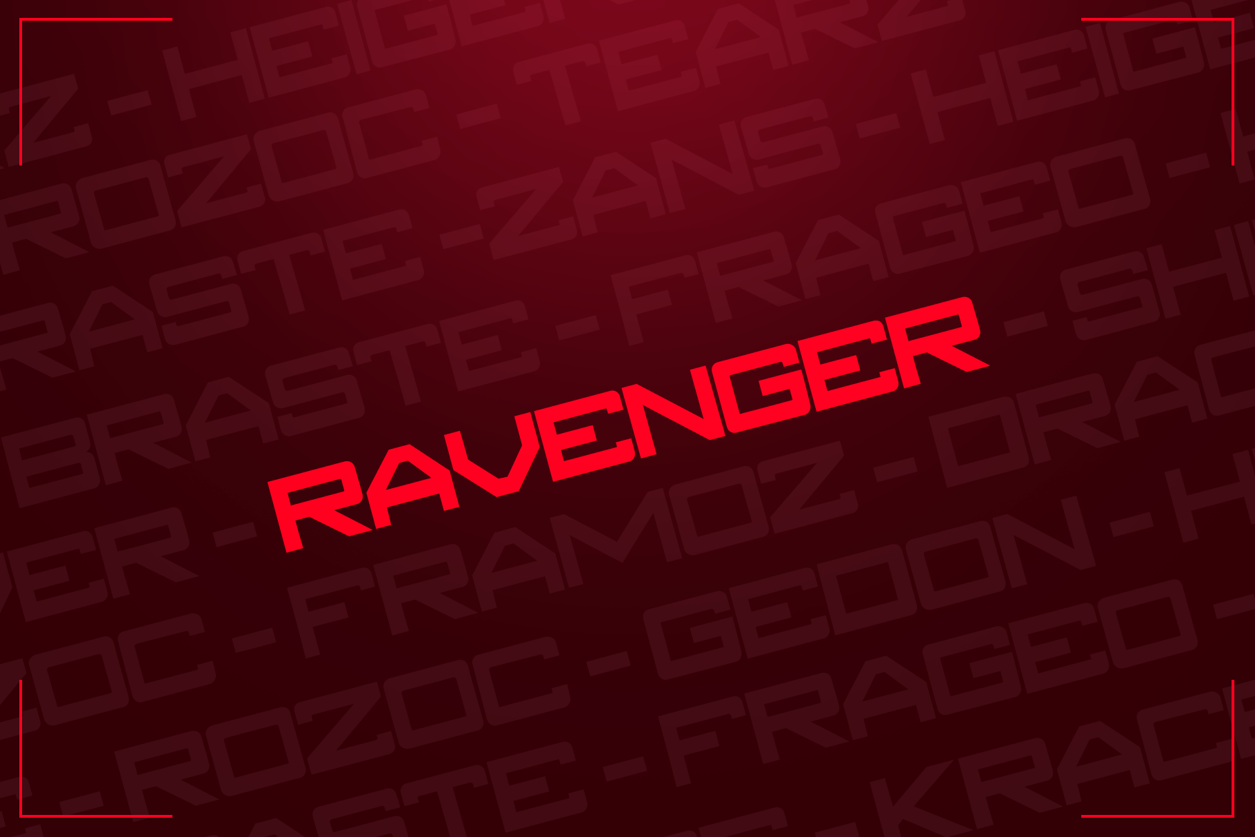 RAVENGER EXCLUSIVE DISPLAY FONT example image 2