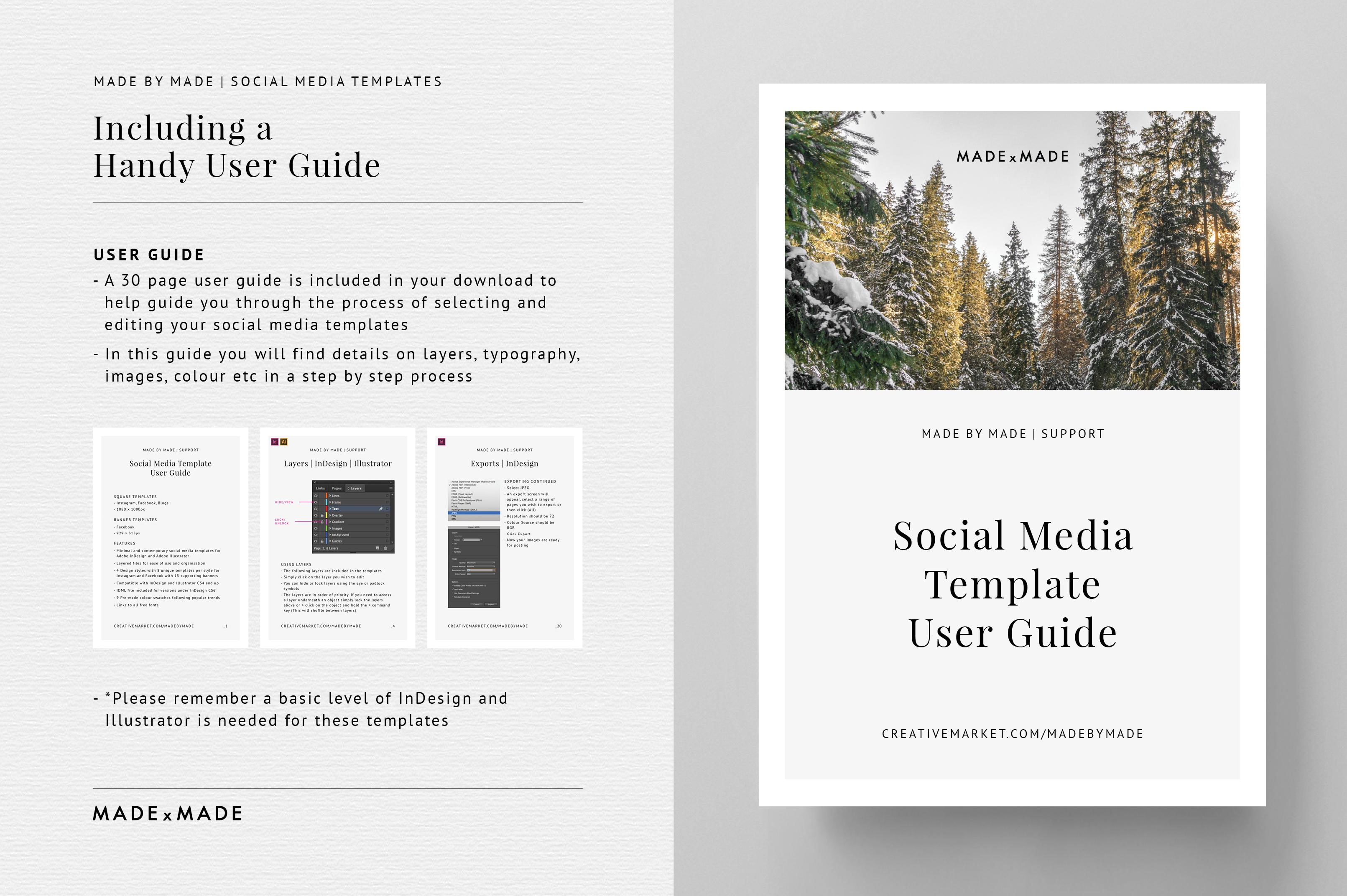 Minimal Social Media Templates example image 5
