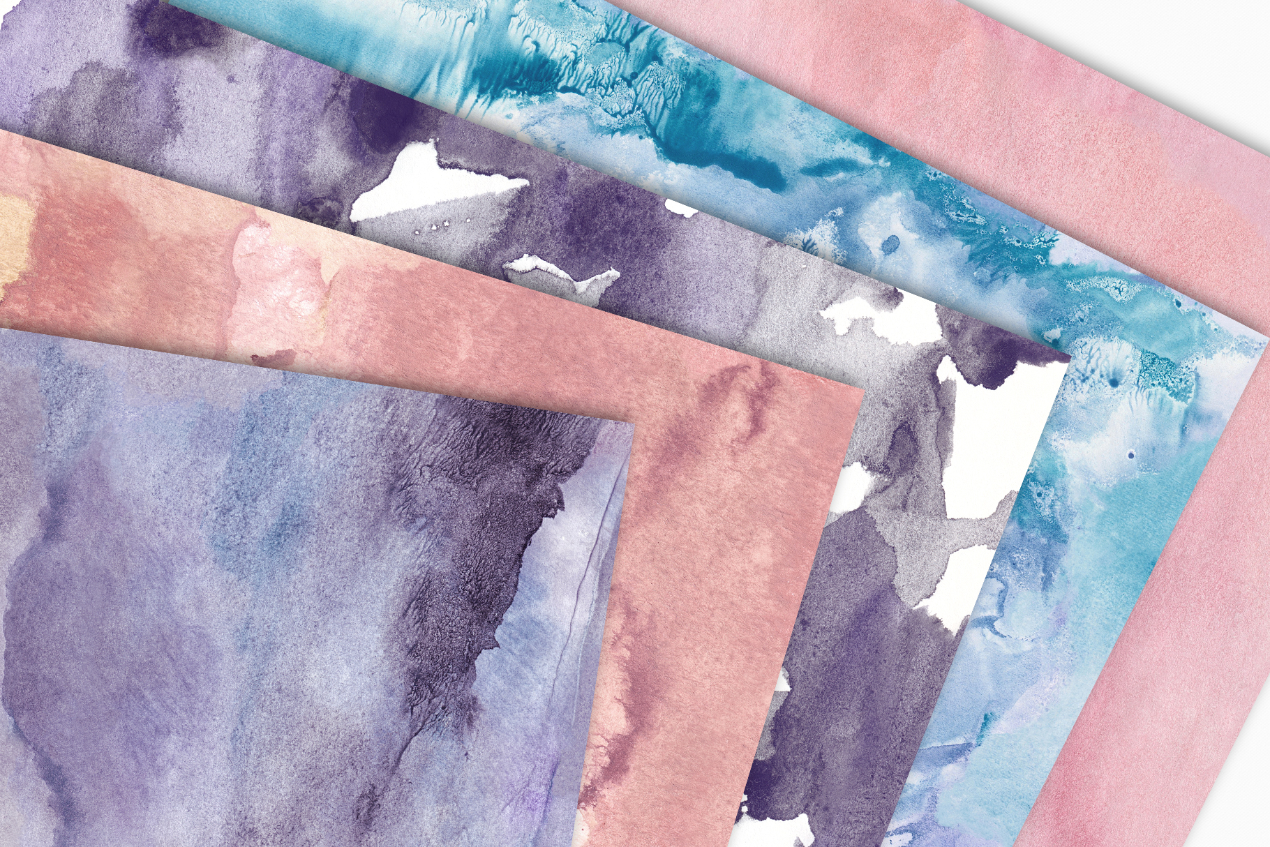Seamless Watercolor Textures - 10 Watercolour Backgrounds example image 7