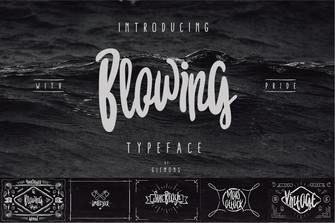 Blowing Typeface example image 6
