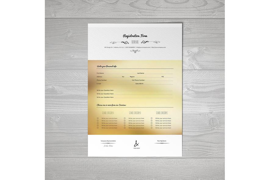 Registration Form Template v15 example image 2