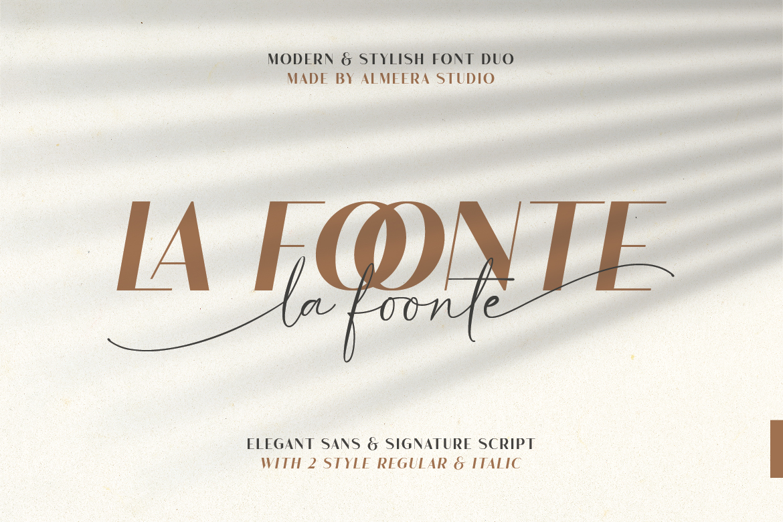 La Foonte   Sans Script Font Duo example image 20