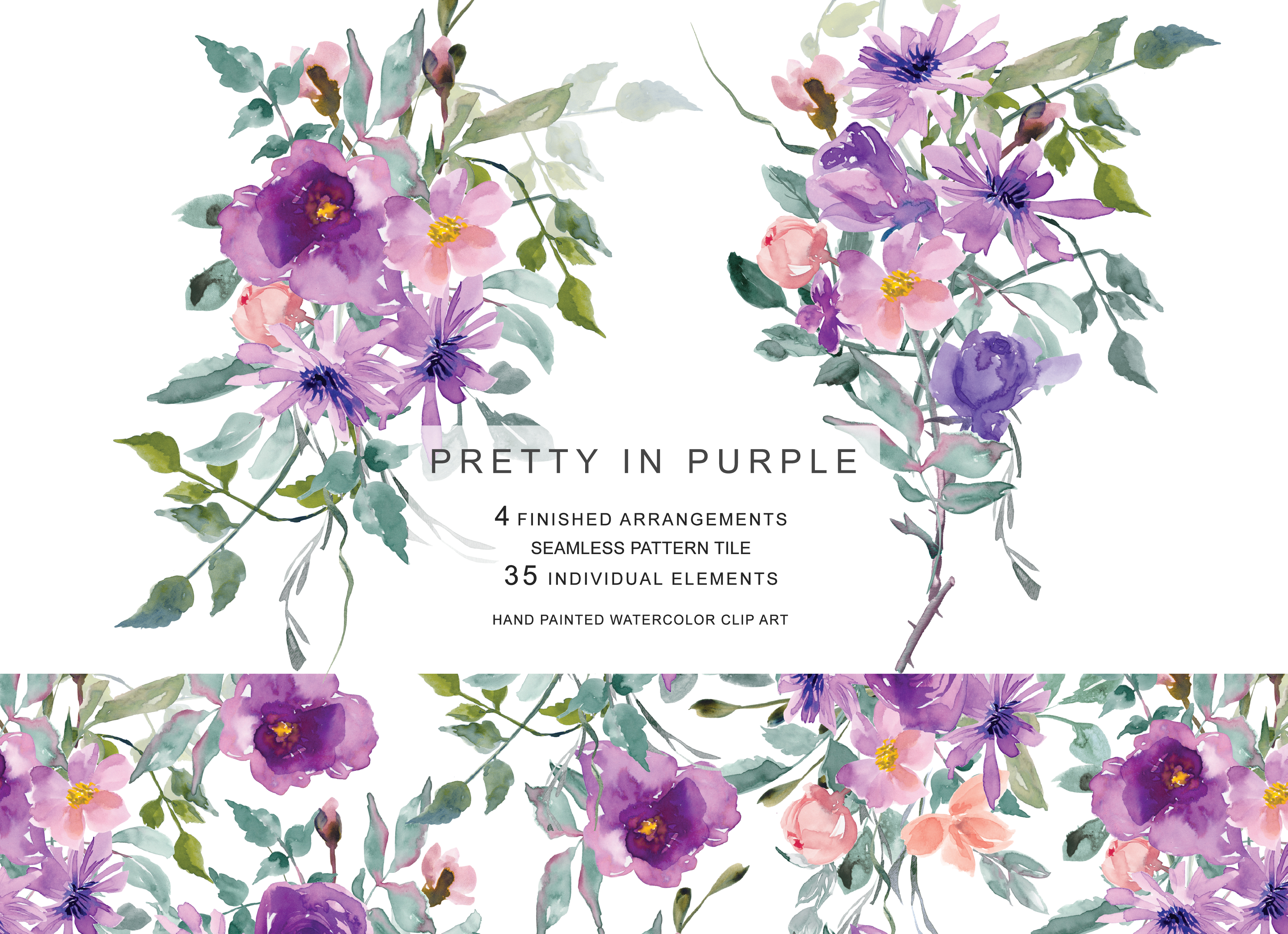 Pretty Purple Flower Clip Art