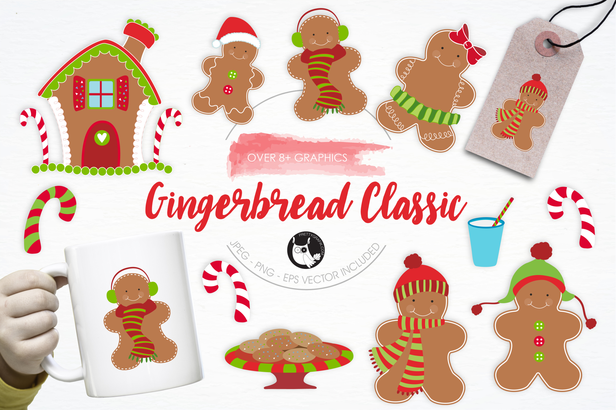 Gingerbread Classic graphics and illustrations example image 1