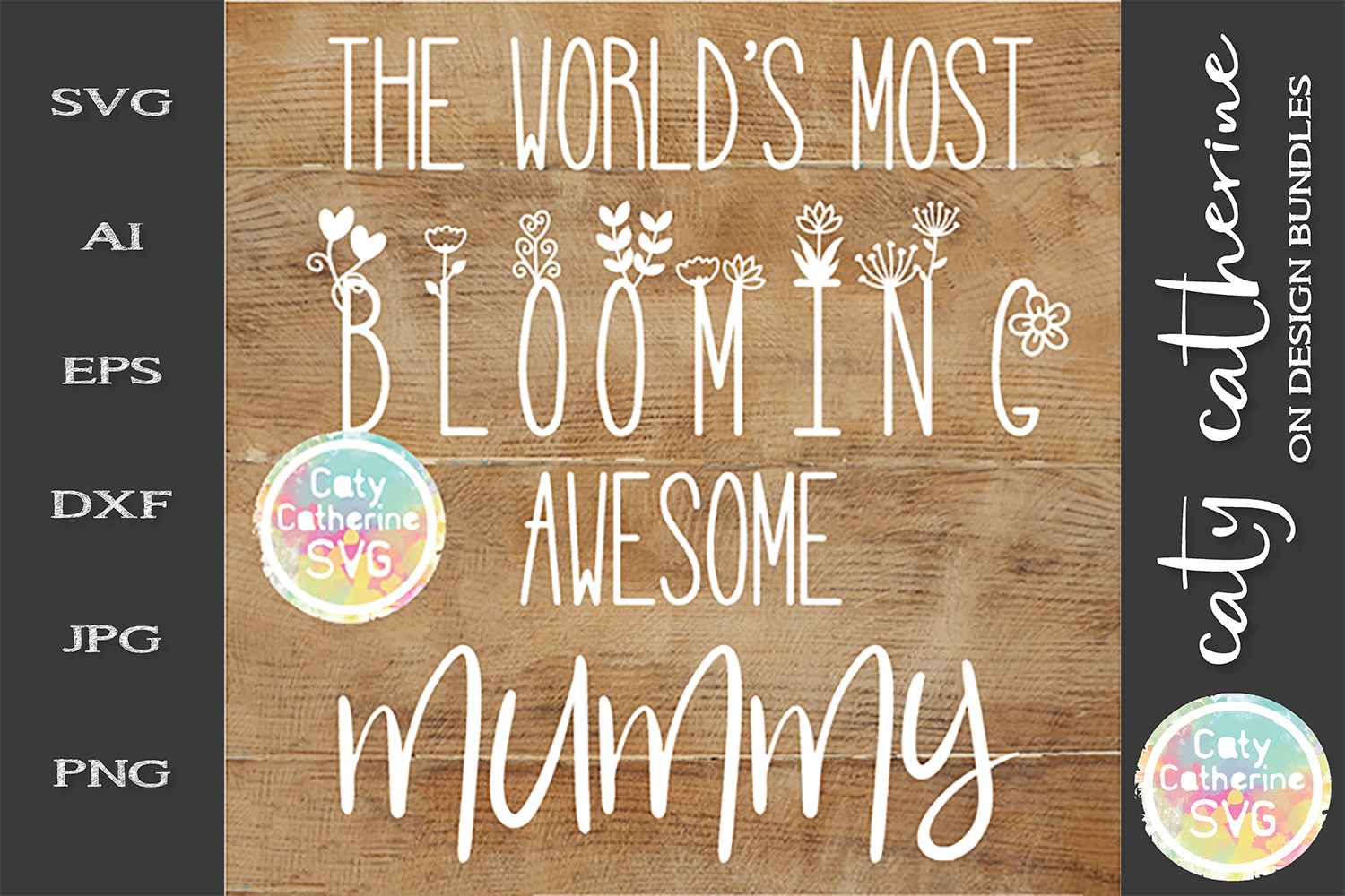 The World's Most Blooming Awesome Mummy SVG example image 1