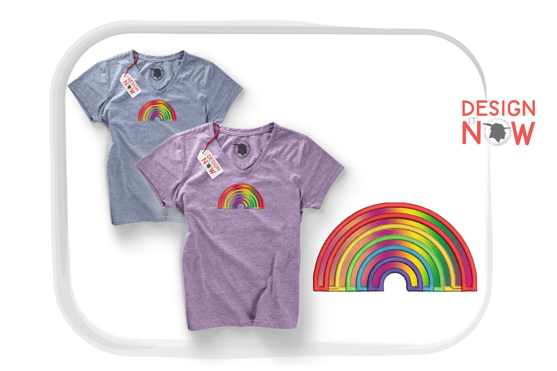 Rainbow Applique Design, Rainbow Embroidery, Pride example image 1