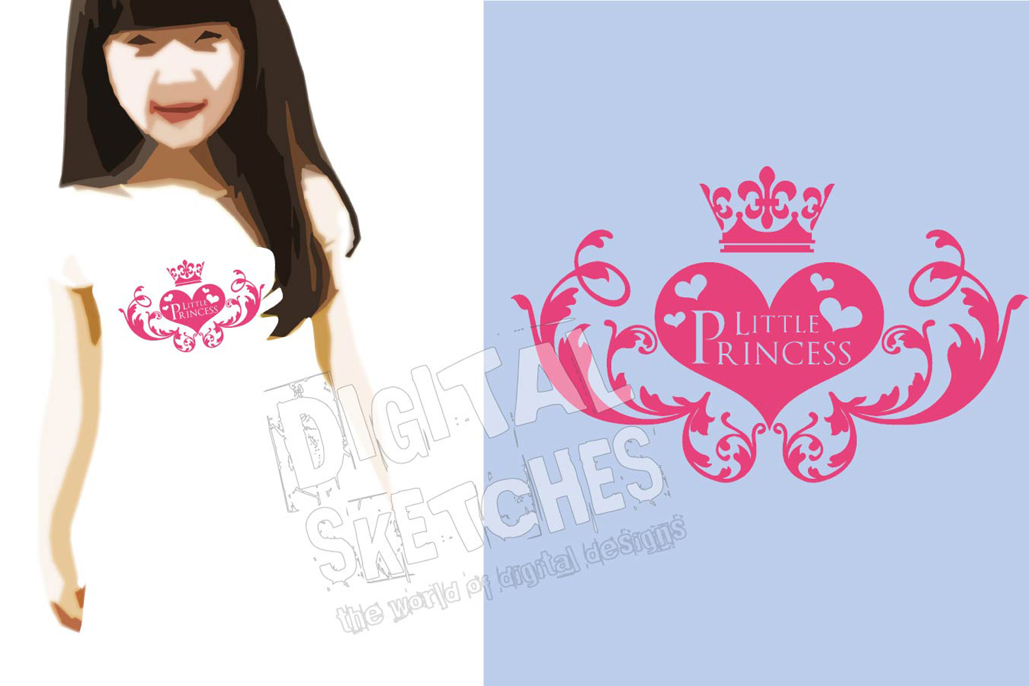 Crown Little Princess Cut File Vector Graphics Illustration example image 2