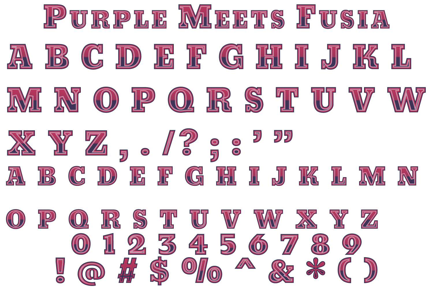 Purple meets Fuchsia and Carmel Toffee fonts example image 2