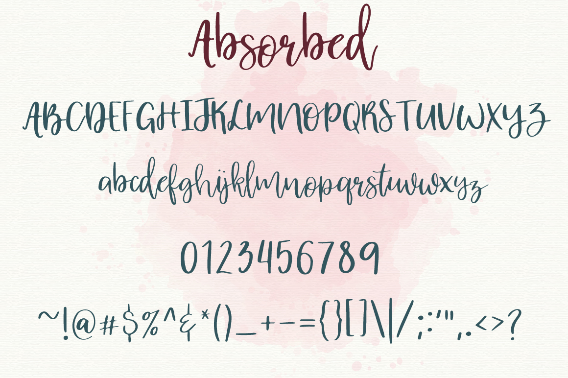 Absorbed | Script Font example image 6