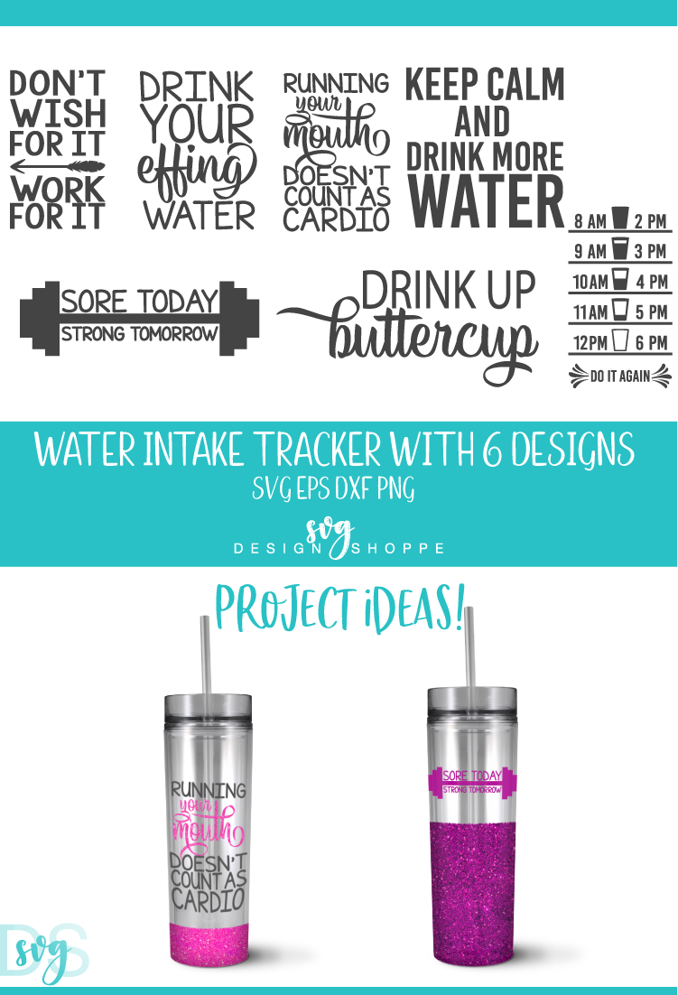 Water Tracker, SVG, SVG File, PNG, DXF, EPS example image 2