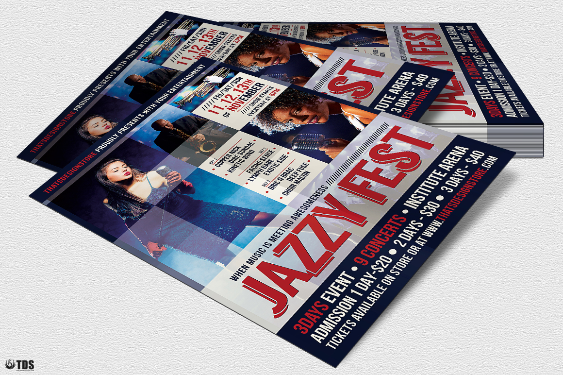Jazzy Fest Flyer Template V1 example image 4