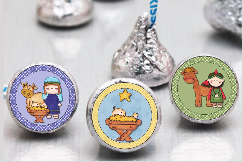 Nativity Bottlecap Images, Labels example image 2