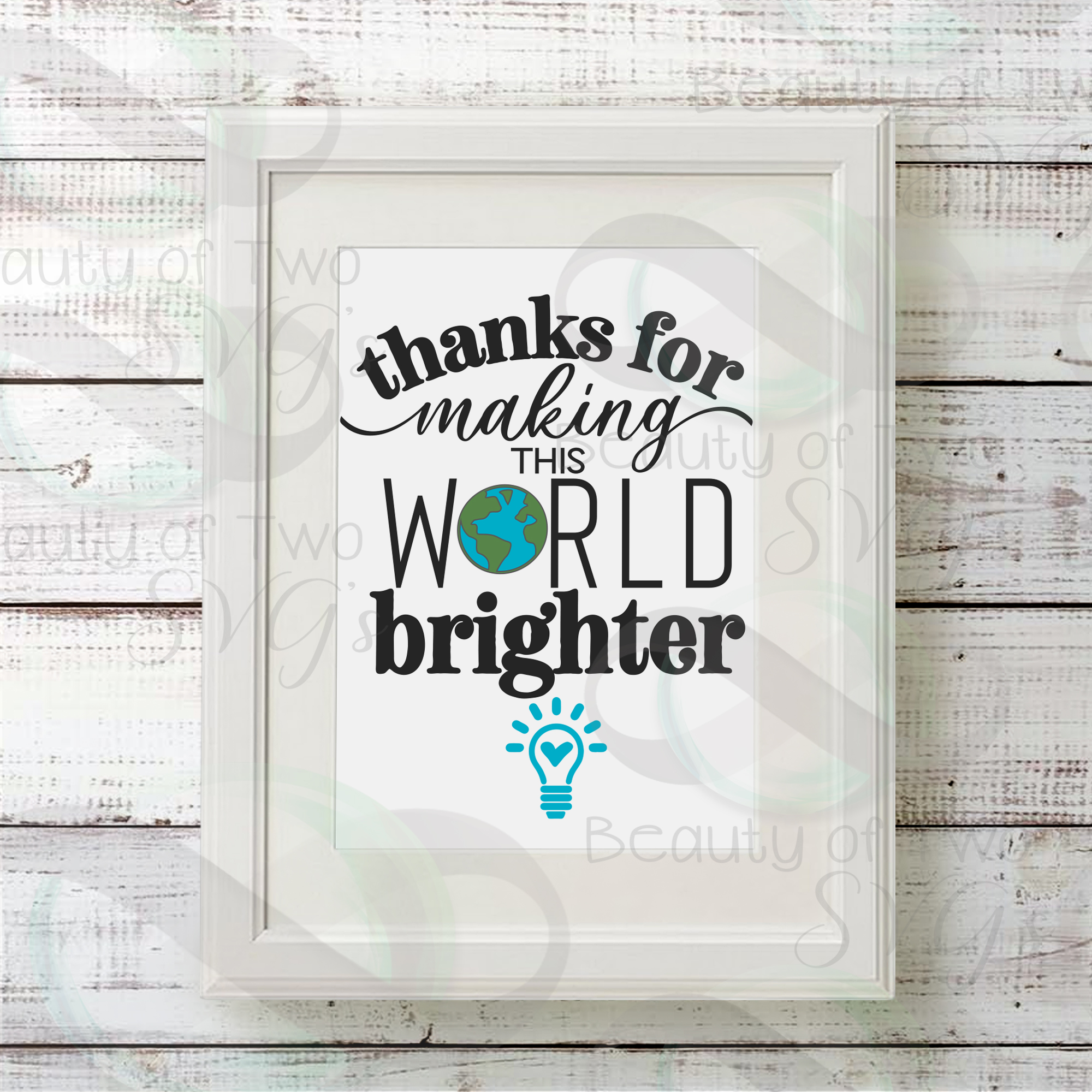 Teacher gift svg, Making the world brighter svg & png, teach example image 2