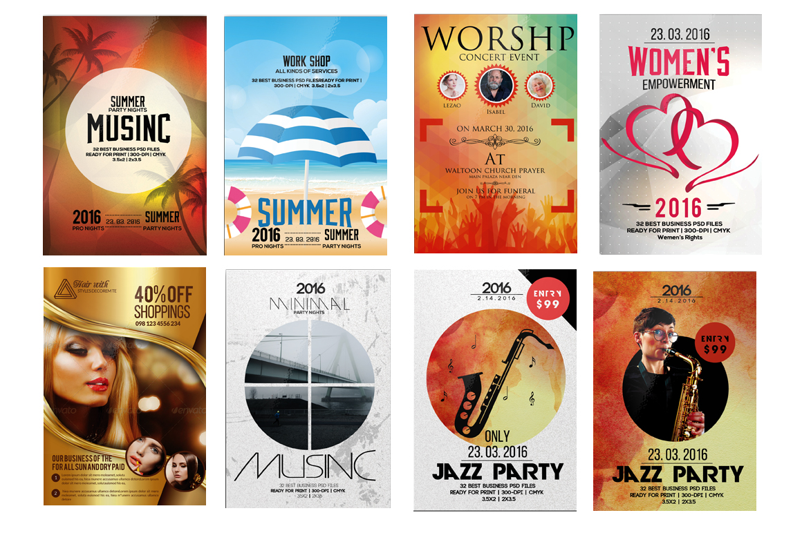 100 Party Flyers Bundle example image 10