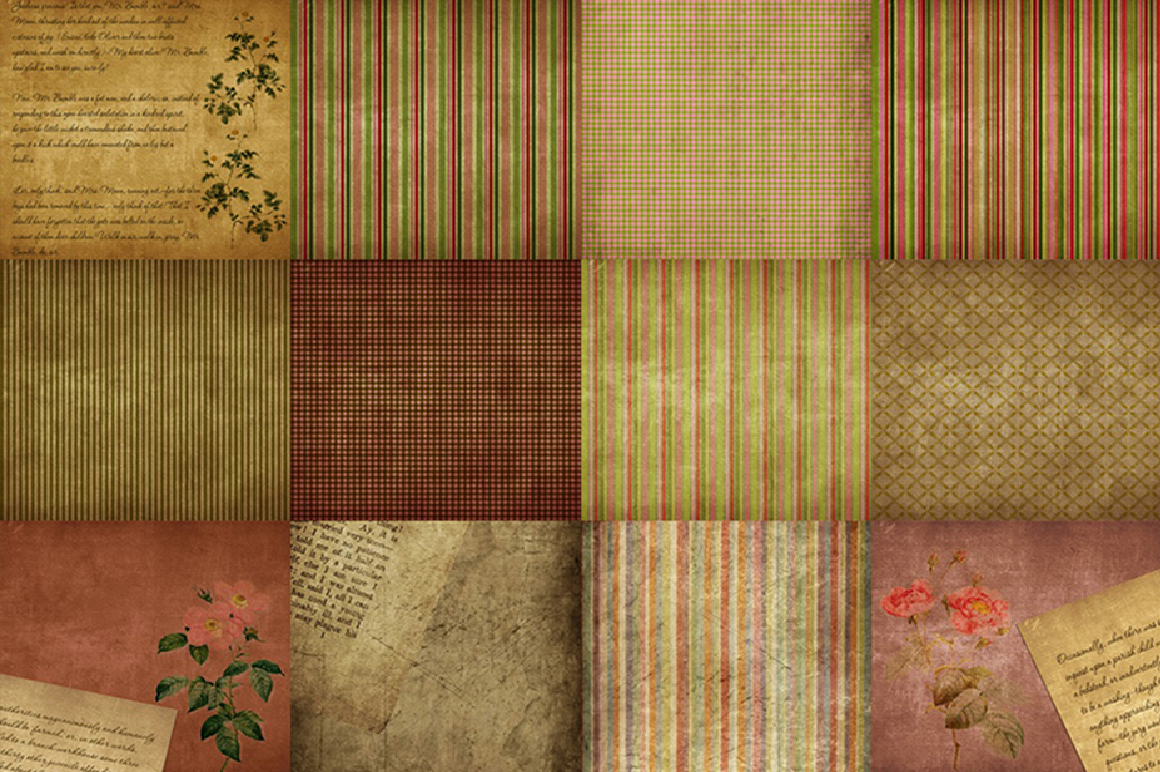 60 Romantic Vintage Background Papers example image 3