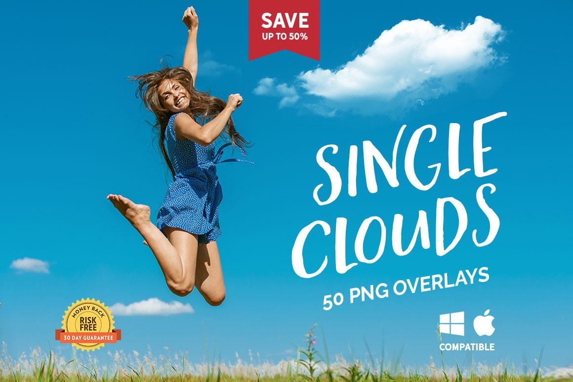 50 Single Clouds Photo Overlays example image 1