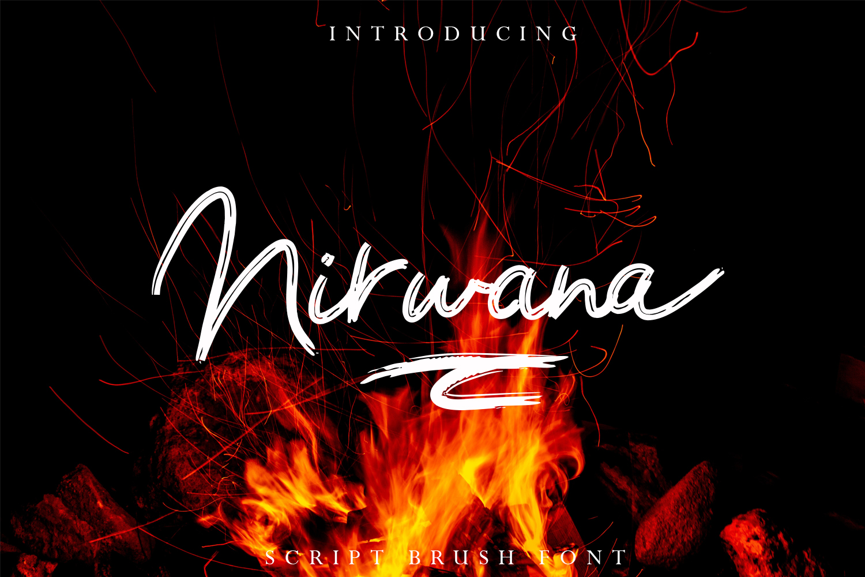 Nirwana Script Font example image 1