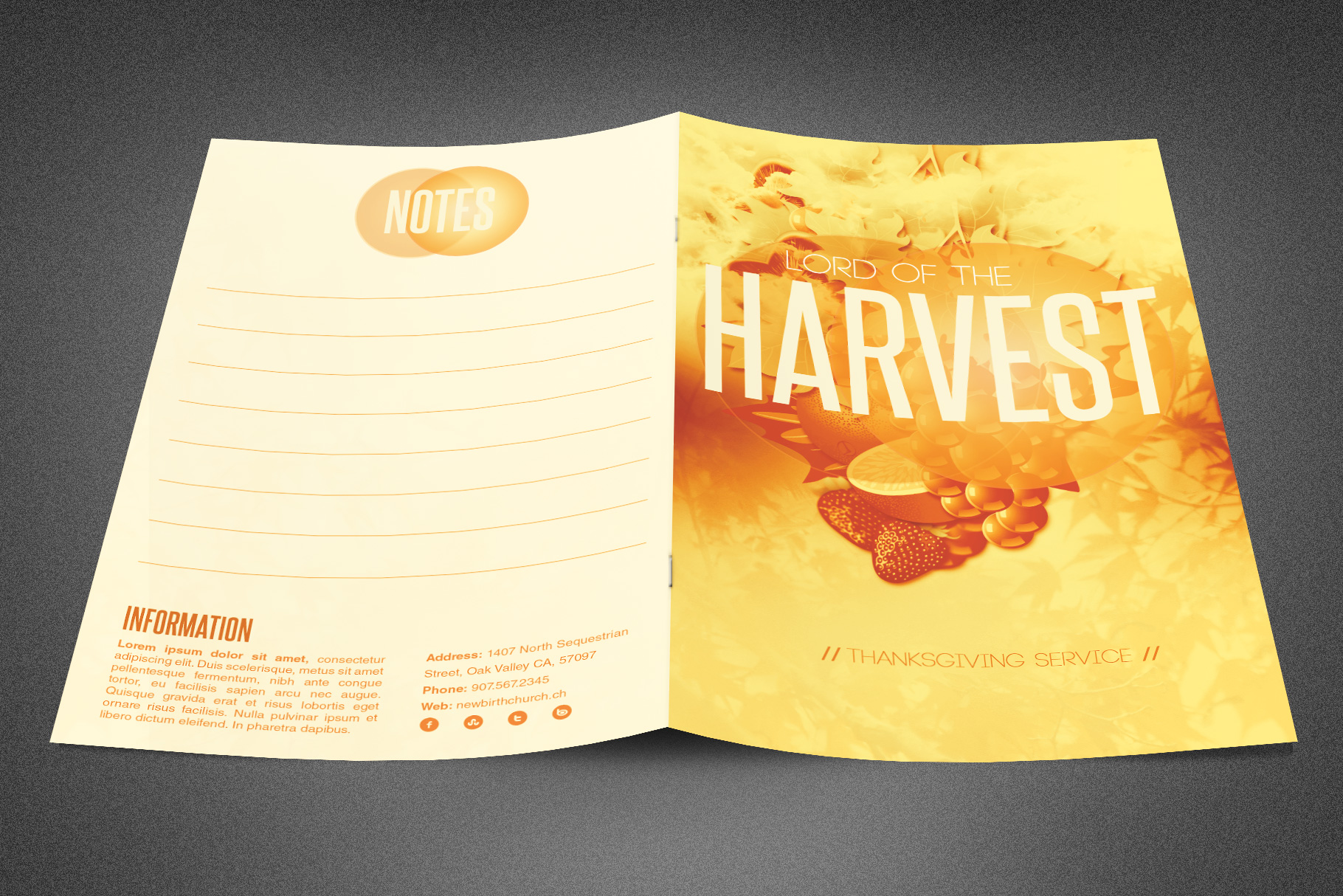 Lord of the Harvest Church Bulletin example image 2
