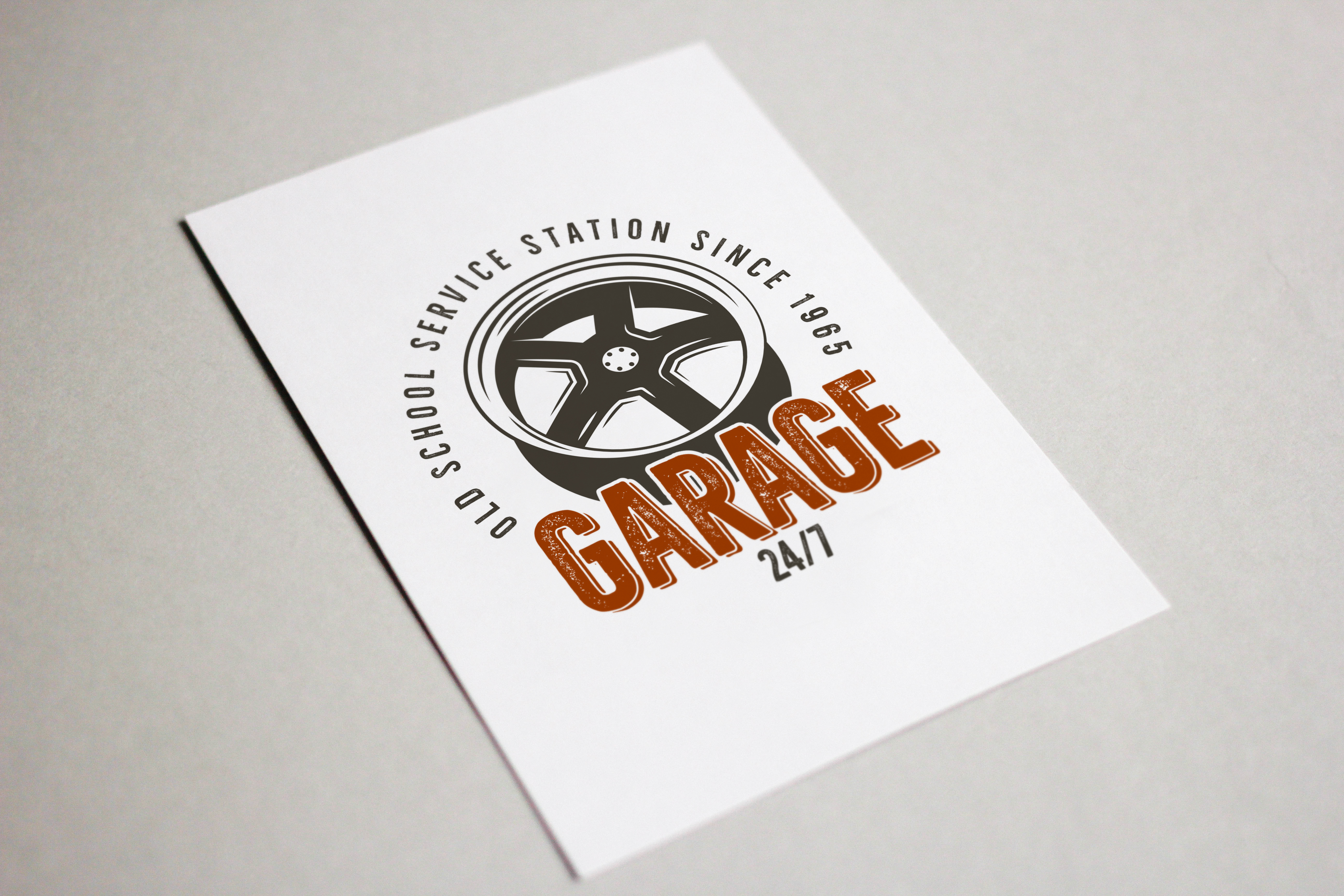Garage - Car Service Emblem / Retro Logo example image 4