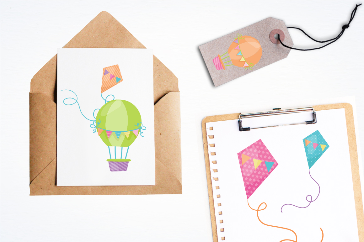 Hot Air Balloon graphic and illustrations example image 3