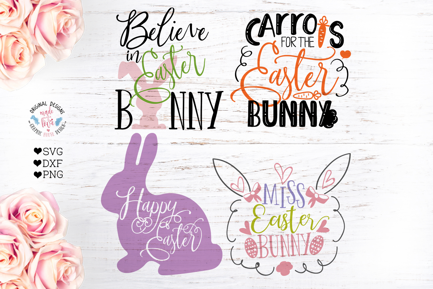 Easter Cut File Bundle in SVG, DXF, PNG example image 2