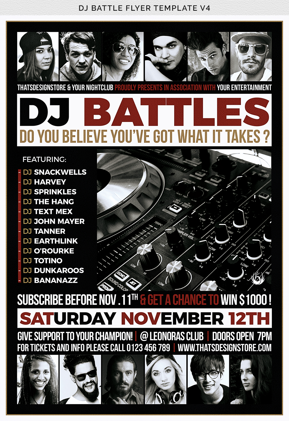 DJ Battle Flyer Template V4 example image 8