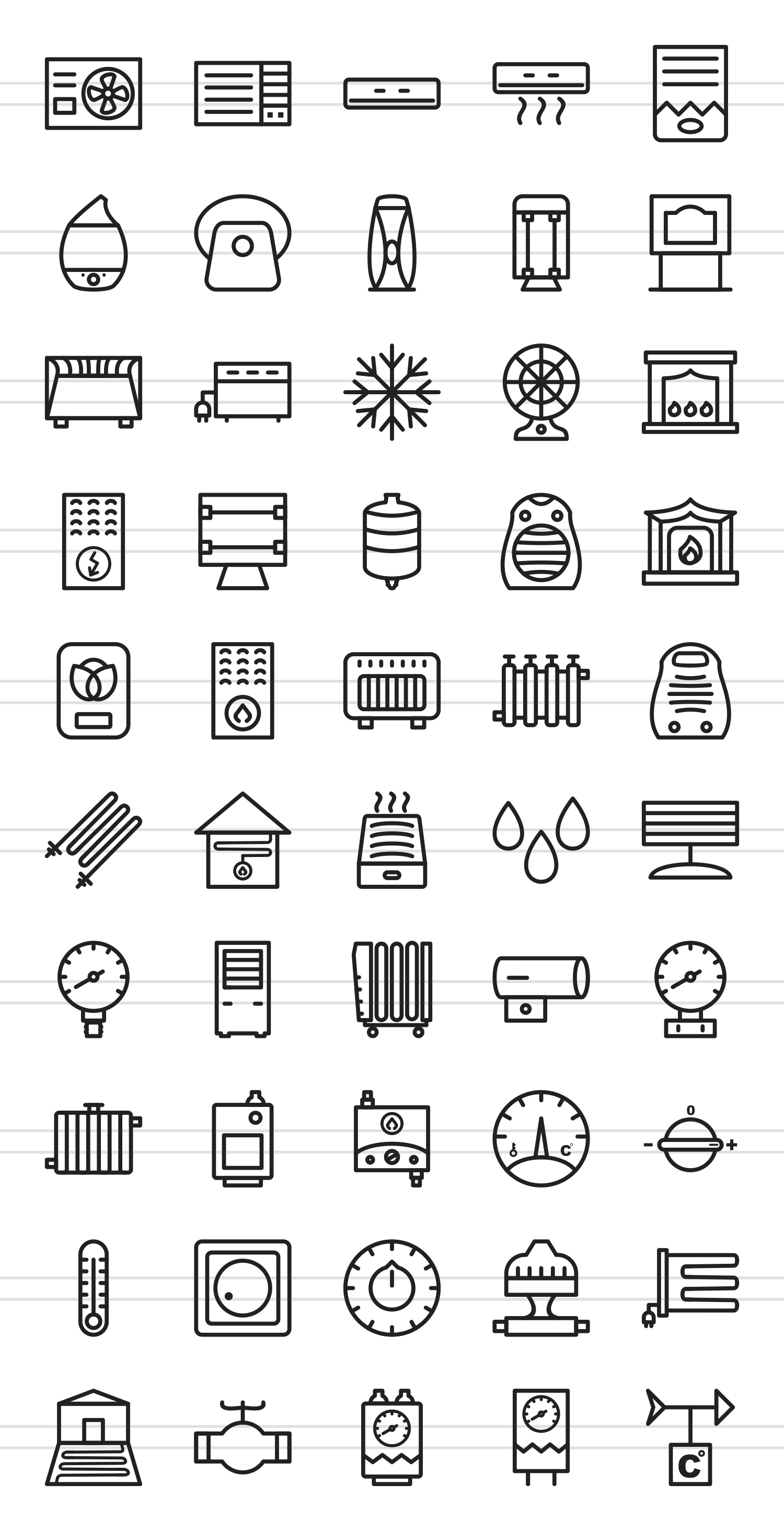 50 Climatic Equipment Line Icons example image 2
