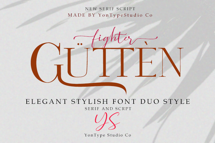 Gutten fighter Font Duo w/ Bonus 6 Logos example image 25
