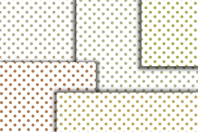 Pastel Polka dot digital paper. Dotted digital background example image 4