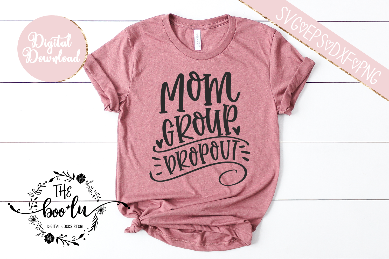 Mom Group Dropout SVG EPS DXF PNG Motherhood Mom Life Funny example image 2