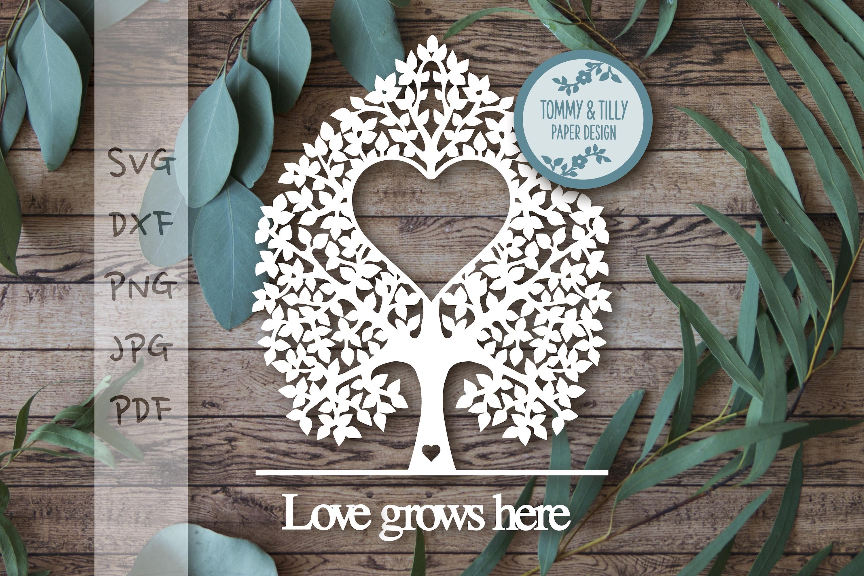 MEGA BUNDLE! Family Tree Cut Files - SVG | Papercut example image 12