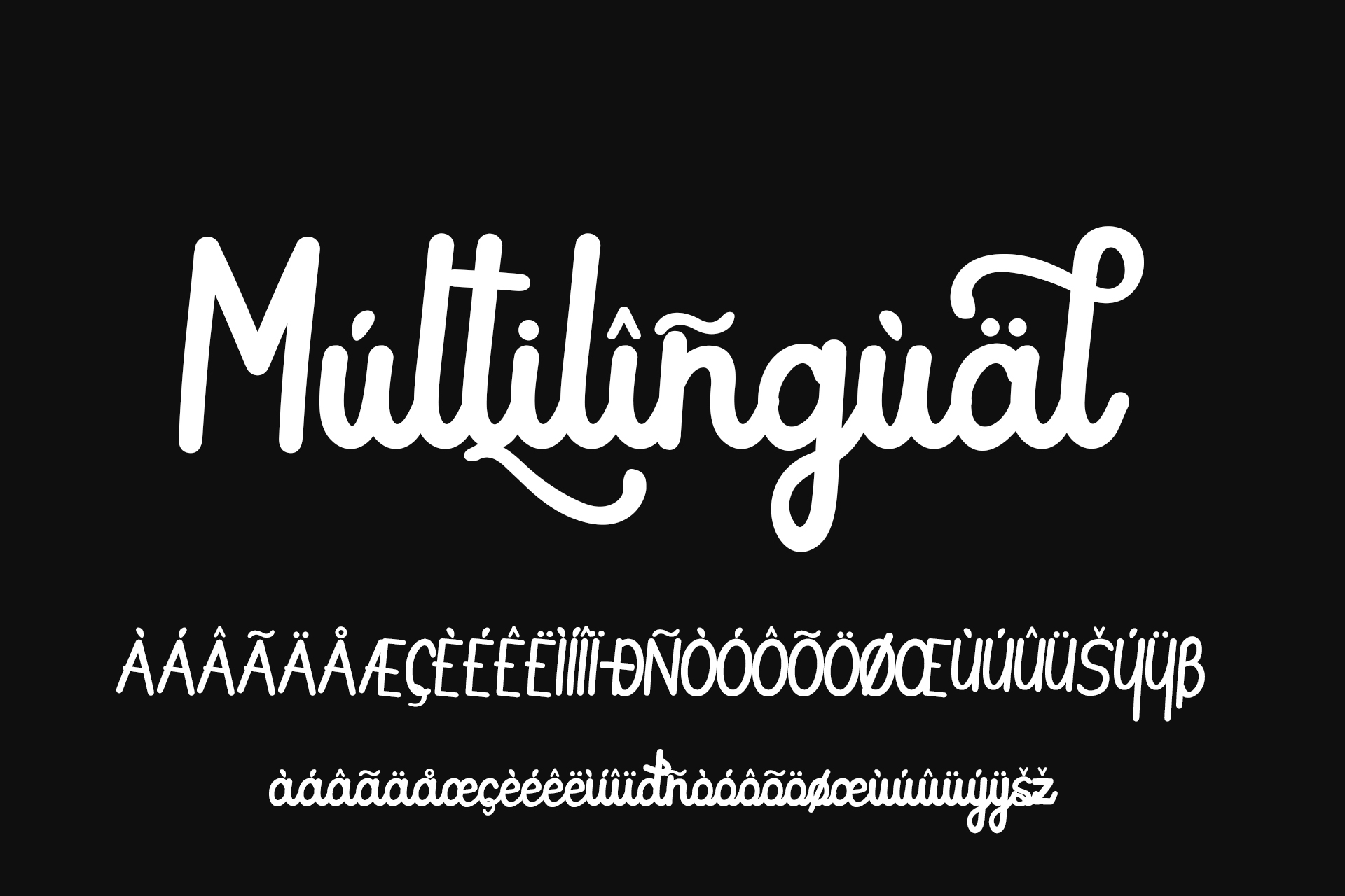 Butterfly Monoline font example image 3