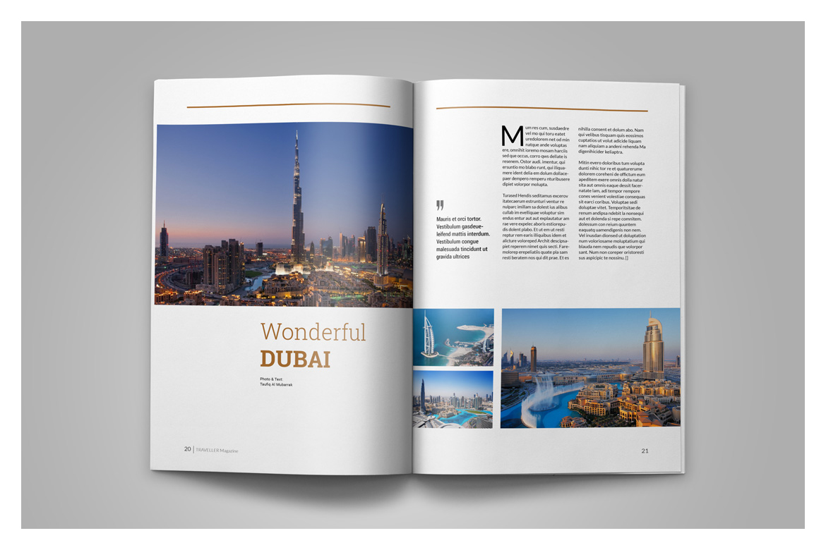 Indesign Magazine Template example image 13