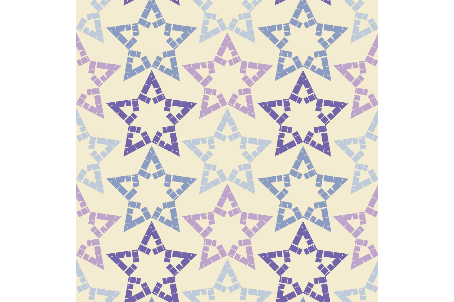Ornament with Stars. Set of 10 seamless patterns. example image 5
