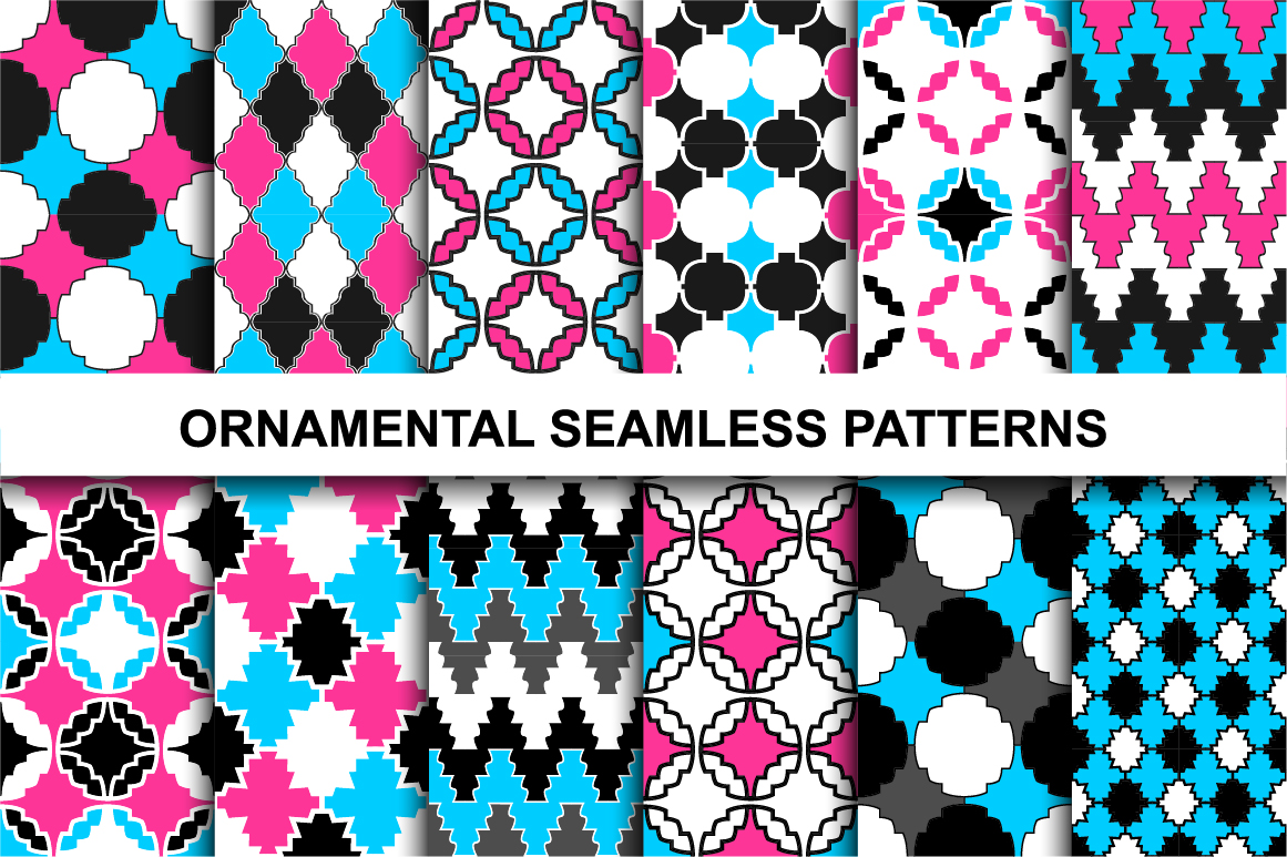 Colorful ornamental patterns. example image 1