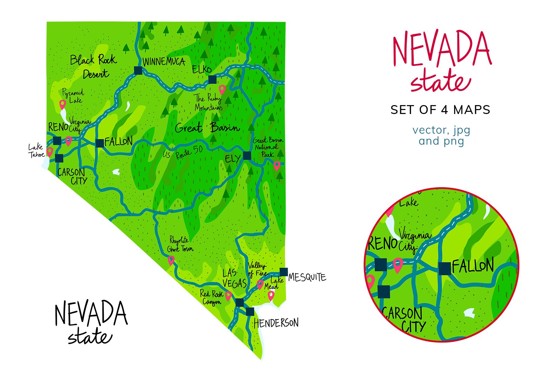 Nevada Maps example image 2
