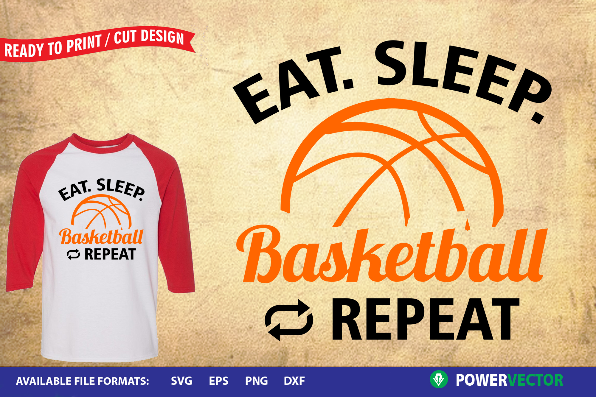 Sports Design SVG Collection | Eat Sleep Play Cut Files example image 3