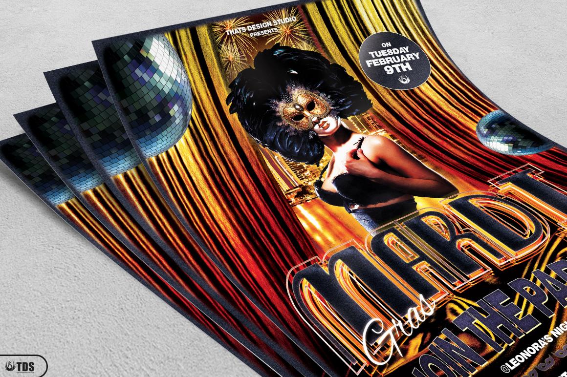 Mardi Gras Flyer Template V1 example image 3