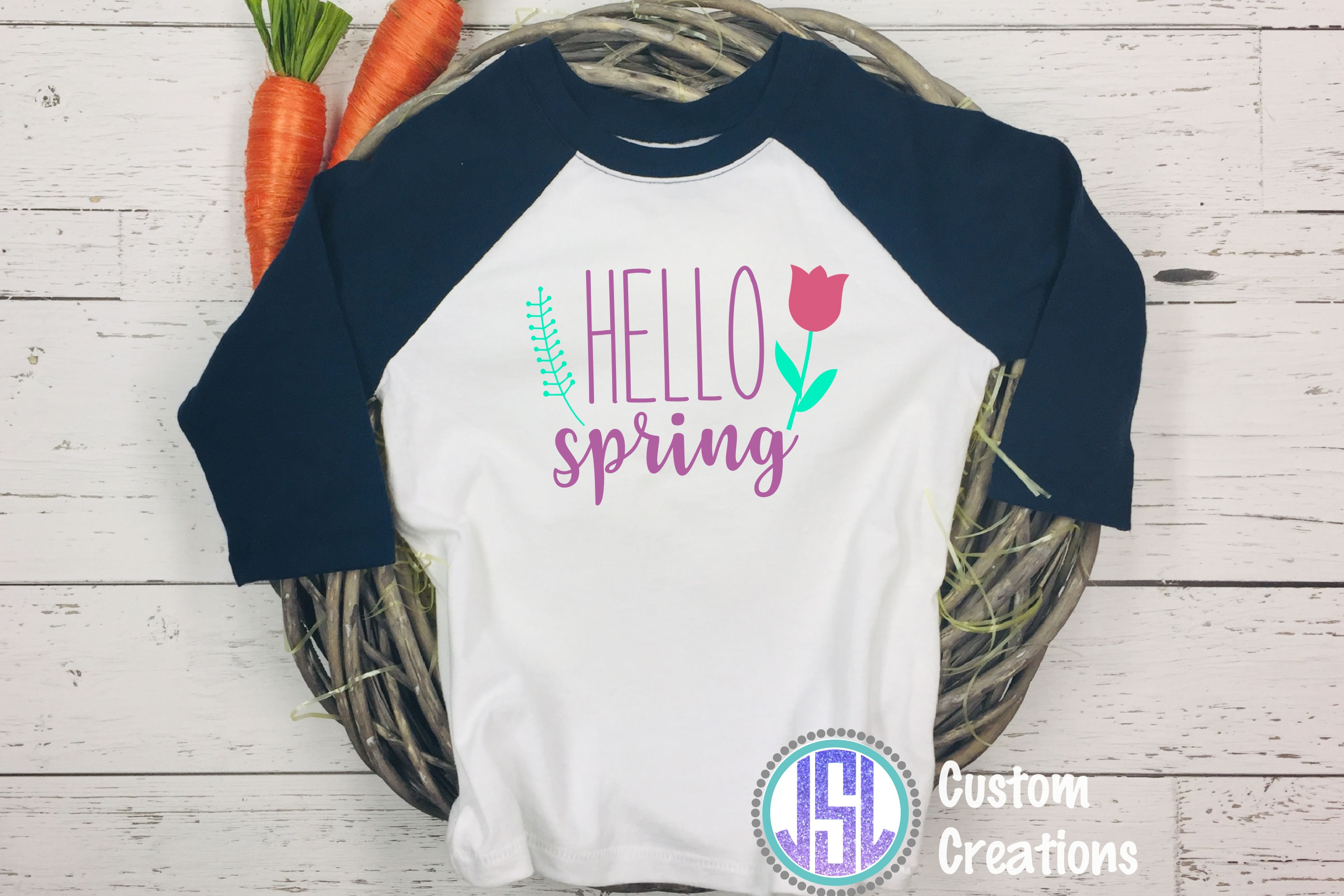 Hello Spring  SVG DXF EPS PNG Digital Cut Files example image 2